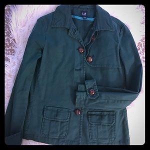 Green Gap jacket.